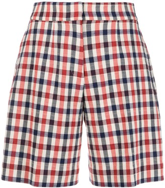 Victoria Victoria Beckham High-Waisted Check Shorts