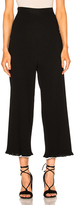 Rosetta Getty Viscose Ribbed Cropped Pants in Black.