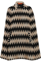 Missoni Crochet-Knit Wool-Blend Cape