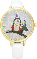 Charter Club Holiday Lane Women's White Leather Strap Watch 37mm, Created for Macy's