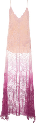 Jonathan Simkhai Ombre Lace Slit Maxi Dress