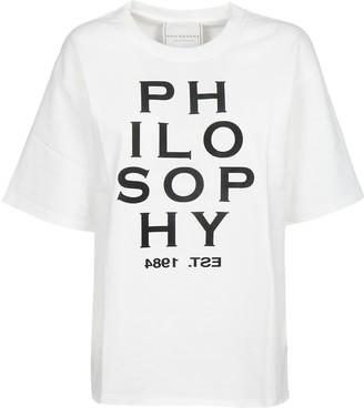 Philosophy di Lorenzo Serafini Logo Print T-shirt