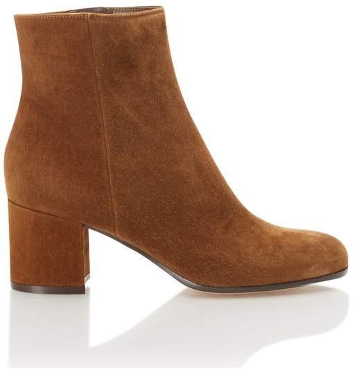 Gianvito Rossi Margaux Suede Ankle Boots In Brown