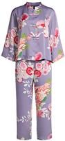 Natori Winter Peony 2-Piece Mandarin Collar Pajama Set