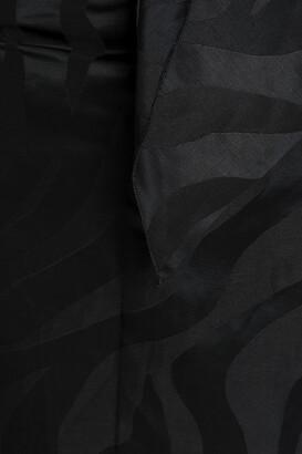 CARMEN MARCH Wrap-effect Linen-blend Jacquard Mini Skirt
