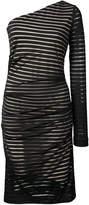 Nicole Miller once shoulder striped dress
