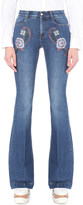 Stella McCartney Flared mid-rise embroidered jeans