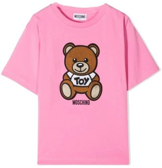 Moschino T-shirt With Sewn Bear