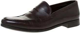 Giorgio Armani Brown Leather Loafers Size 42