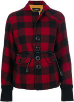 DSQUARED2 tartan jacket - women - Calf Leather/Polyester/Wool - 38