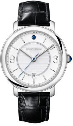Boucheron Epure 18K White Gold & Alligator Strap Large Watch