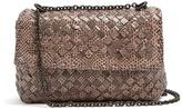Bottega Veneta Intrecciato snakeskin mini leather cross-body bag
