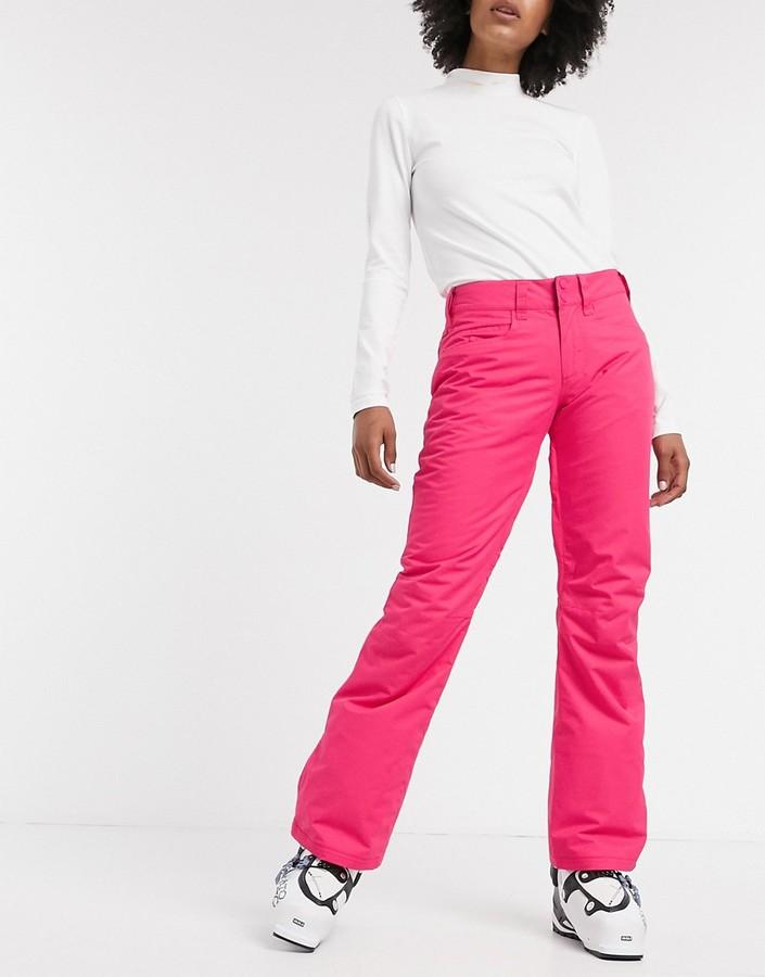 Roxy Backyard snow pants in beetroot pink