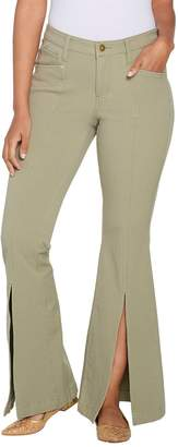 G.I.L.I. Got It Love It G.I.L.I. Petite Front Slit Wide Leg Colored Jeans