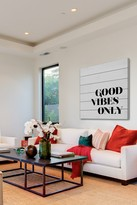 Marmont Hill Inc. Good Vibes Only White Wood Wall Art