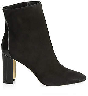 Manolo Blahnik Women's Rosie Suede & Patent Leather Ankle Boots