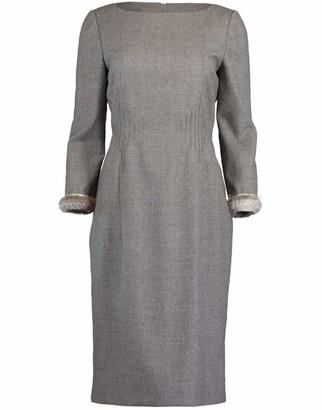 Valentino Fur Cuff Cocktail Dress