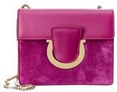 Salvatore Ferragamo Thalia Medium Gancini Leather & Suede Shoulder Bag.