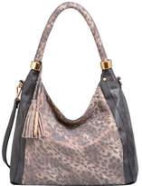 Mellow World Women's Nova Animal Print Hobo Medium - Black Hobo Handbags