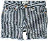 Hudson Slouch Shorts (Toddler/Kid) - White Stripe-6x