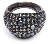Kenneth Jay Lane Glass crystal wide band ring