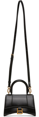 Balenciaga Black XS Hourglass Top Handle Bag