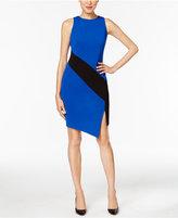 ECI Crepe Colorblocked Sheath Dress
