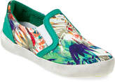 Naturino Kids Boys) Tropical Print Canvas Slip On Sneakers