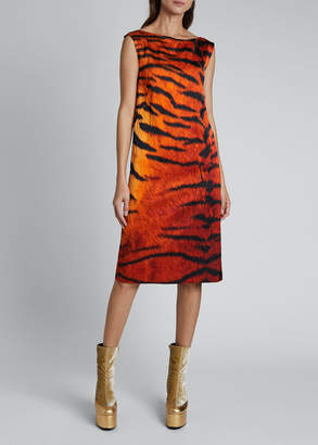 Dries Van Noten Dotar Tiger-Print Dress