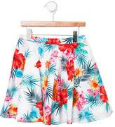 MSGM Girls' Tropical Print Skirt w/ Tags