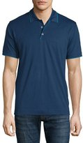 Robert Graham Marlow Short-Sleeve Polo Shirt with Contrast Trim, Navy