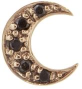 Sydney Evan Black Diamond Moon Stud Earring