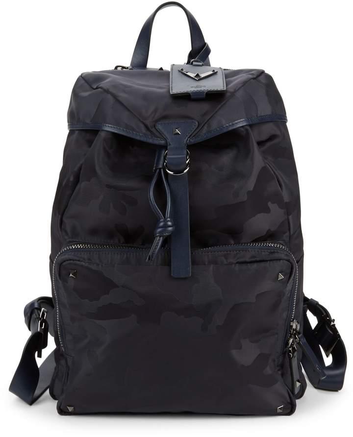 Valentino Garavani Camouflage-Print Backpack