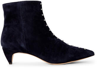 Nine West Navy Zyrannia Studded Ankle Booties