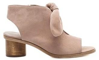 Bernardo Luna Wood Heel Sandal Blush
