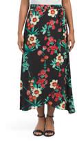 Made In USA Juniors Wrap Maxi Skirt
