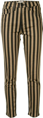 Nili Lotan Striped Print Trousers