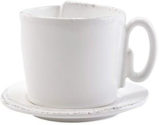 Vietri Lastra 2-Piece Cup & Saucer Set