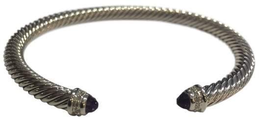 David Yurman 925 Sterling Silver Amethyst, Diamond Bracelet