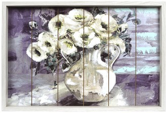 New View Gifts & Accessories Gifts White Floral Boxed Frame Wall Art