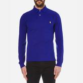 Polo Ralph Lauren Men's Long Sleeved Slim Fit Polo Shirt Heritage Royal