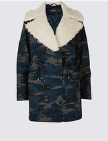Limited Edition Pure Cotton Printed Shearling Parka