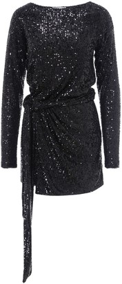 Saint Laurent Sequins Wrap Dress
