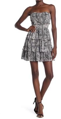 Do & Be Leopard Print Tube Dress