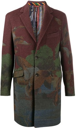 Etro Floral Print Single Breasted Coat