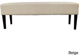 Mjl Furniture Designs MJL Furniture Roxanne Nail Trim Upholstered Long Bench