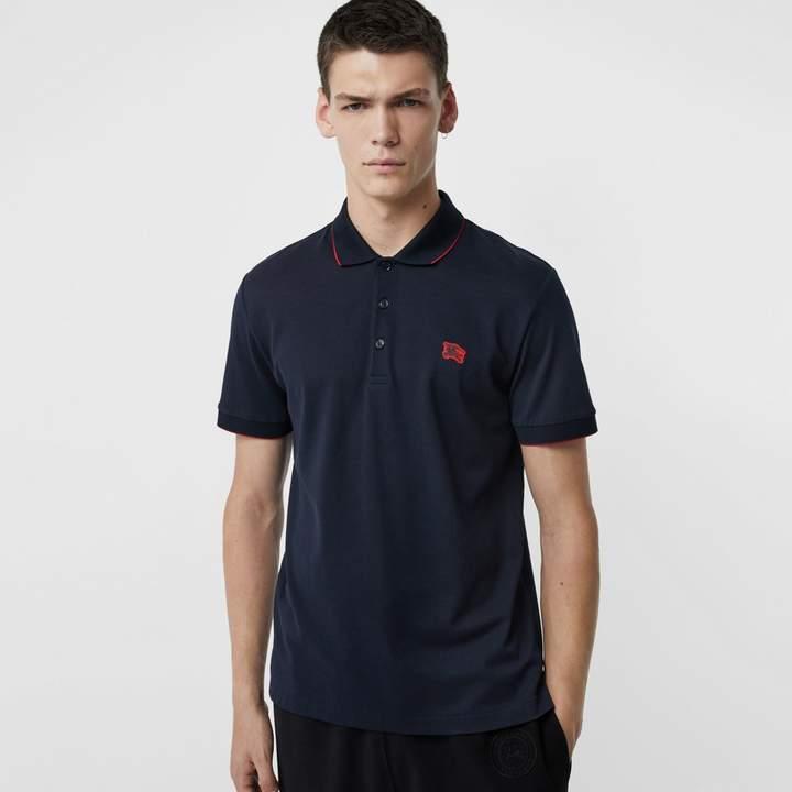 Burberry Tipped Cotton Piqué Polo Shirt