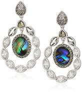 Judith Jack Sterling Silver Swarovski Marcasite and Orbital Drop Earrings