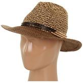 Jessica Simpson Tweeded Panama w/ Metal Rings (Sable) - Hats