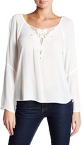 Lush Peplum Embroidery Blouse